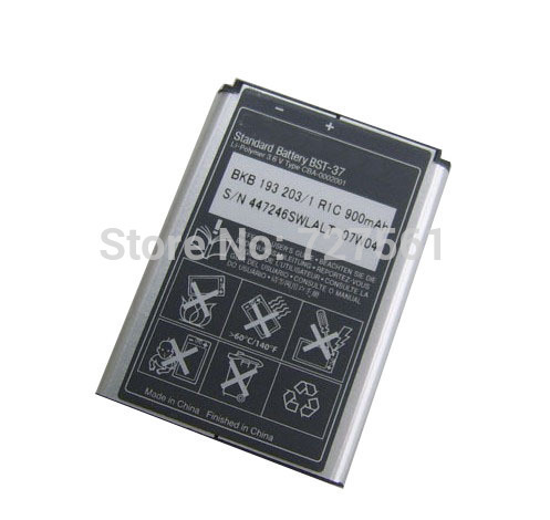 Original BST 37 BST 37 Rechargeable Phone Battery for Sony Ericsson K750 D750i Mobile Batteries Free