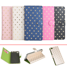 Lenovo S60 S60W Phone Case Luxury Star Wallet Flip Pu Leather Cover Lenovo S60-W S60-T Magnetic Case with Stand and Card Slots