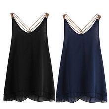Fashion Women Summer Loose Casual Sleeveless Vest Tank Tops