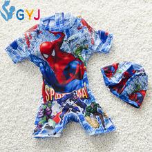 swimwear baby boys 90-105cm Spider-Man baby swimsuit cartoon baby bathing suits for boys piece infant toddler swimming swim wear