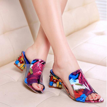 2016 New Fashion Casual Wedge Women Sandals Shoes Fish Head Thick Big Yards Roman Sandals Thick
