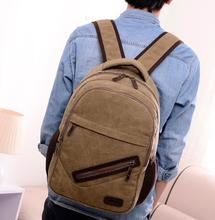2014 New fashion men and women canvas backpack women shoulder bag men's backpack good quality