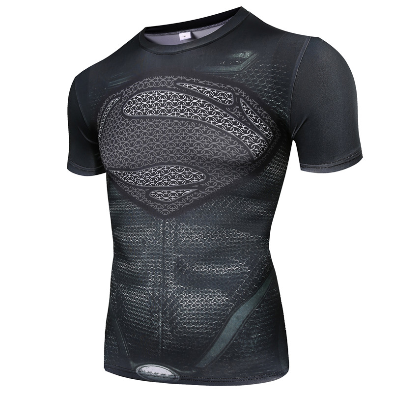 New Gym Fitness Compression font b Shirt b font font b Men b font Anime Superhero
