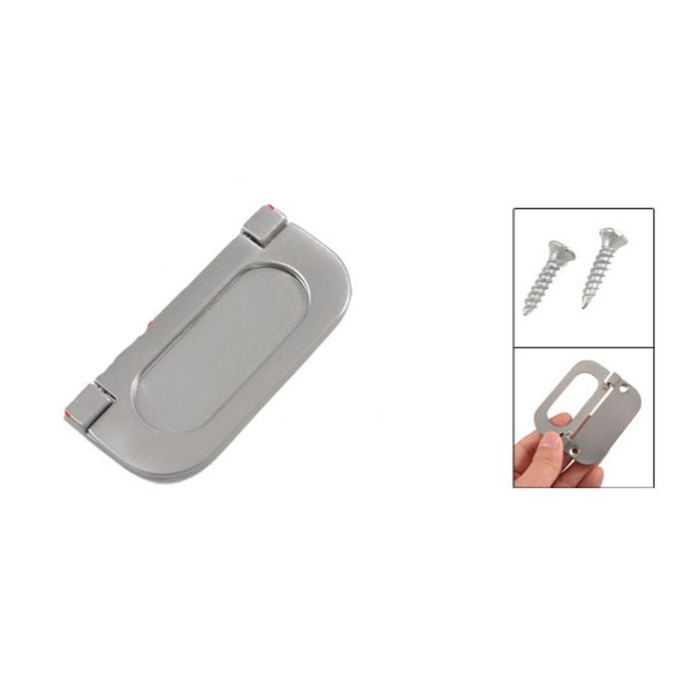 "Гаджет  ABWE! Silver Tone Metal Oval Shape Ring Pull Cupboard Door Handle 3"" Long None Мебель"
