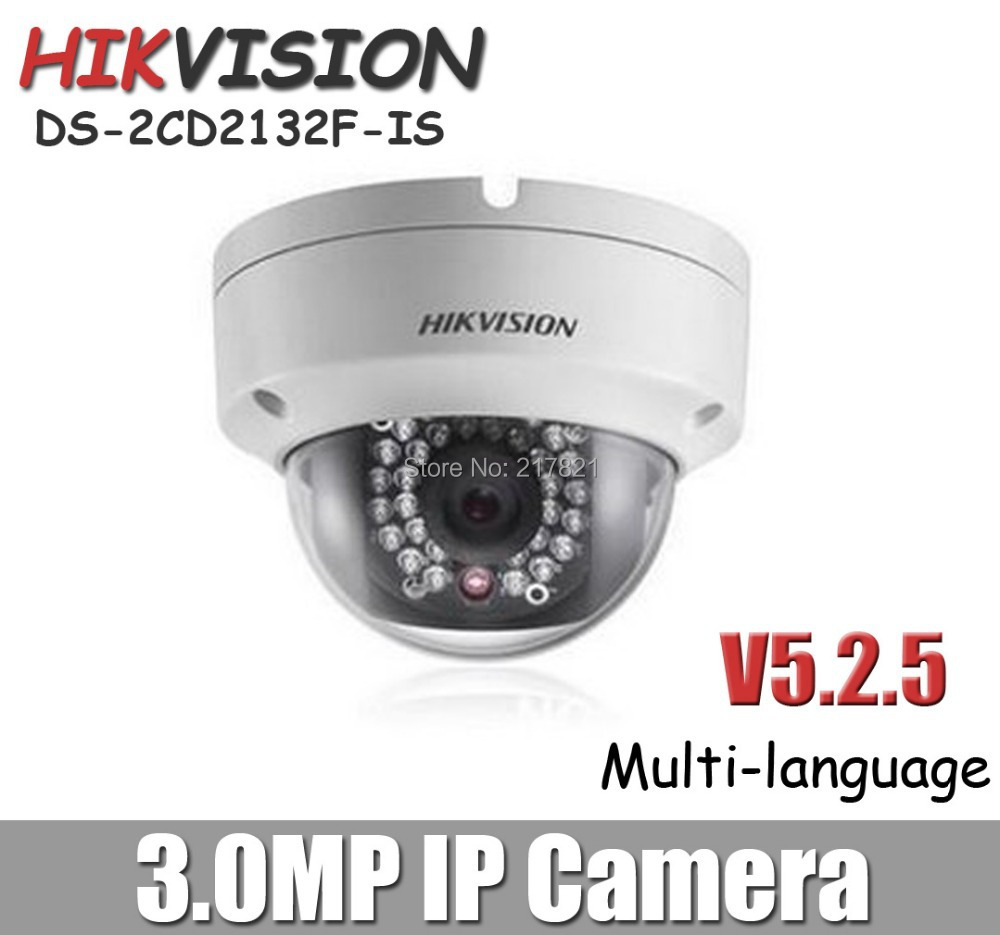 2.8mm or 4mm lens Hikvision DS-2CD3132-I Replace old DS-2cd2132F-IS Dome IP Camera POE Onvif 1080P Network camera(China (Mainland))