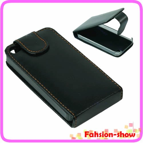 Leather Flip Case Cover Pouch Protector For Apple iPhone 4 4G 4S Black Free shipping<br><br>Aliexpress