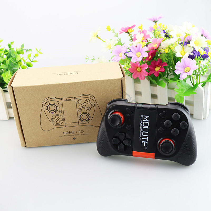MOCUTE VR Gamepad Android Joystick Bluetooth Controller Selfie Remote Control Shutter Gamepad for PC Smart Phone + Holder