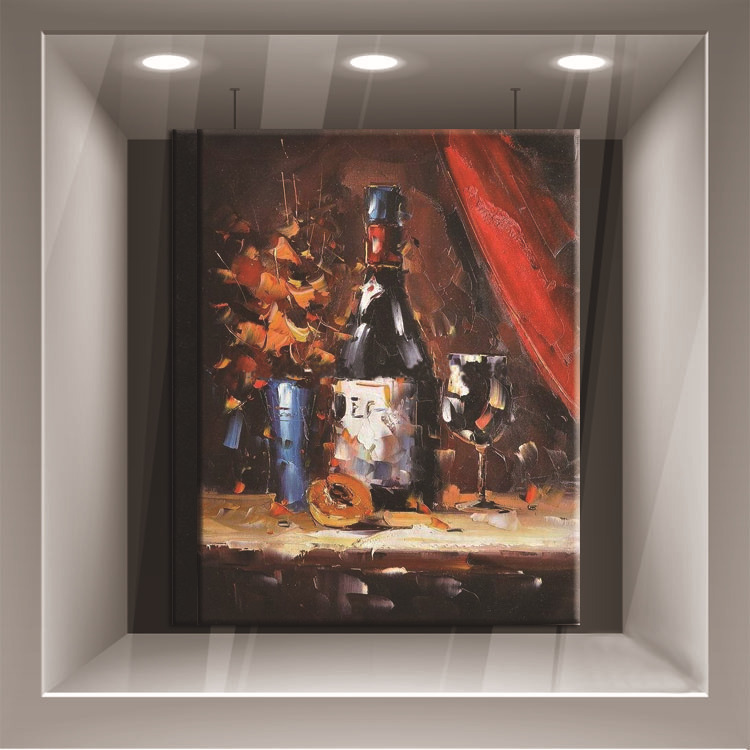 Strong Painter Team 100%Hand-Painted High Quality Knife Painting Bottle Oil Painting On Canvas Impression Bottle Paintings(China (Mainland))