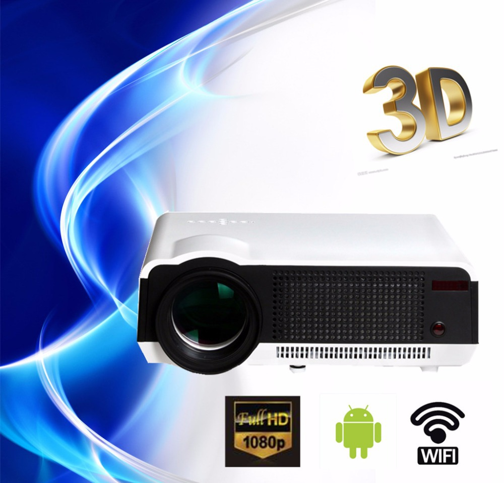 free gift 100 39 39 curtain full hd new android smart projector proyector led lcd 3d wifi home. Black Bedroom Furniture Sets. Home Design Ideas
