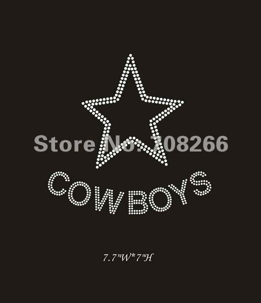 40pcs/lot,rhinestone motif transfers star cowboys,free shipping via DHL,fast turnaround,custom design/small order is welcome(China (Mainland))