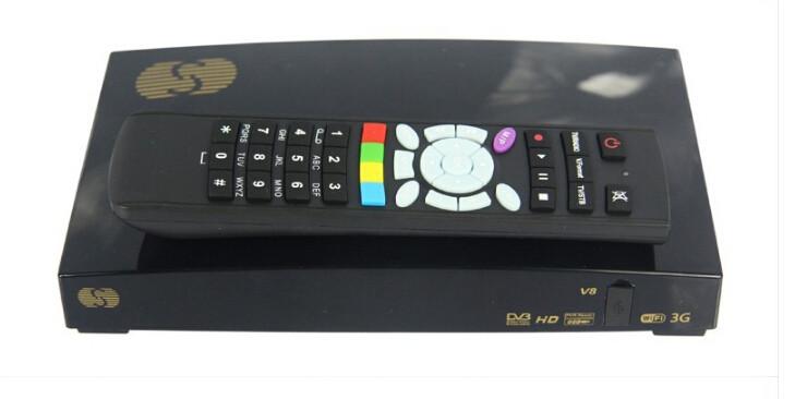 2pcs/ Lot Original S-V8 1080P Full HD PVR FTA Satellite Receiver box, have WEB TV, S V8(China (Mainland))