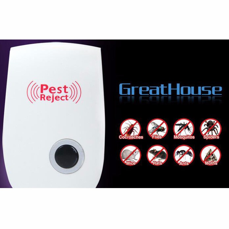 Home electronics insect repellent fly mouse, plug-in ultrasonic enhanced mosquito repellent, free shipping(China (Mainland))
