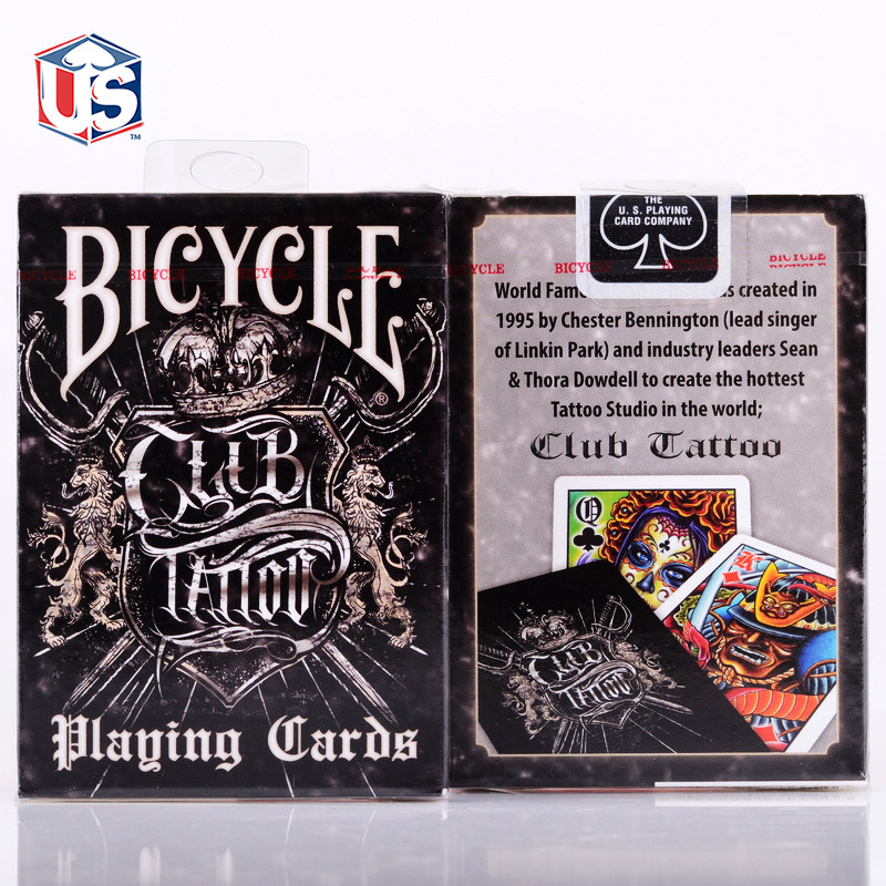 Club Tattoo Deck Bicycle Playing Cards Poker Size USPCC Special Limited Edition Magic Tricks Props(China (Mainland))