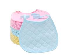 Hot Selling New Solid Color 100 cotton Baby Girl Boy Bib Saliva Towel Slabber Bandana Bibs