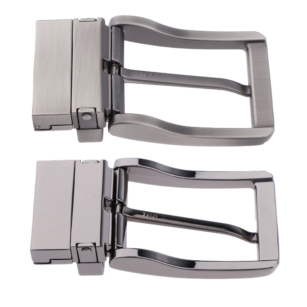 Men Metal Pin Buckle Reversible 360 Degree Rotation Cinturon Reversible Buckle Men Golden Silver Color High Quality Material