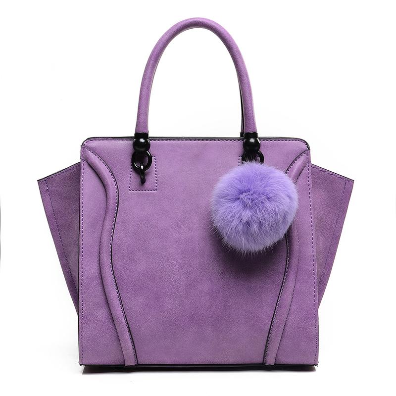 Women Handbags Designer Trapeze Faux Suede Tote Bag Female Fur Smiley Crossbody Bags 2016 New Pochette Bolsos Muje<br><br>Aliexpress