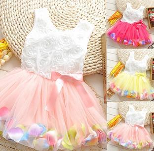 2015 Summer Baby Girls Dress Lolita Style Infant Baby Dress Princess Dress Baby Girl Clothing Vestidos Infantis 1-2 Years(China (Mainland))