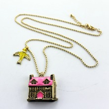 Fashion necklace 2014 New fashion and pure and fresh and elegant contracted house necklace restoring ancient ways is 0327(China (Mainland))