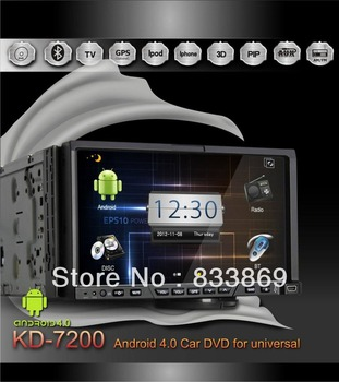 "Detachable Panel HD 2Din 7""  Android 4.0 Universal Car PC GPS Navi With BT IPOD Radio/RDS 3D UI PIP TV 3G/WIFI AUX IN"
