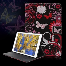 Phone Cases for Pad mini 4 Callfree Stand Wallet Leather Smart Case- Flower and Butterfly(China (Mainland))