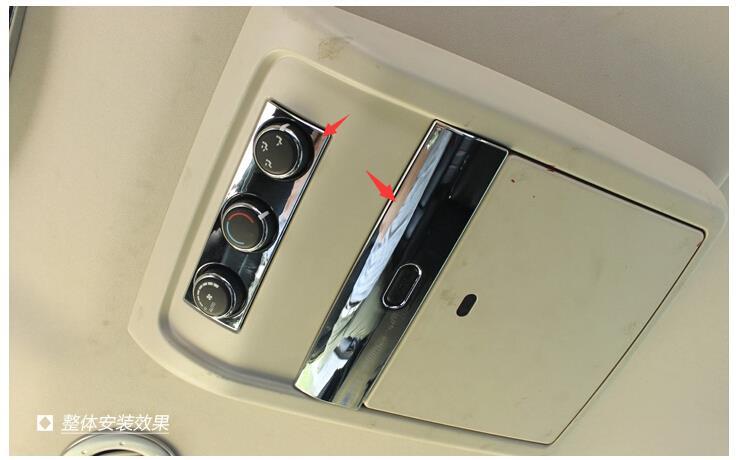 ABS! For Dodge Journey 2013 2014 Chrome Roof TV Button Cover Interior Trims 2pcs / set(China (Mainland))