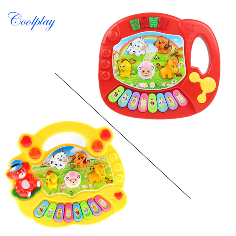 Coolplay CP5031AB Baby Kid's Animal Farm Mobile Piano Smart Music Toy Electric ENGLISH Early /Xmas Gift Free shipping(China (Mainland))
