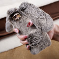 Case for iPhone 6 6s 4 7 inch Mobile Phone Bag Soft Warm Rabbit Furry Fur