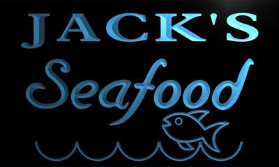 x0053-tm Jack's Seafood Restaurant Custom Personalized Name Neon Sign Wholesale Dropshipping On/Off Switch 7 Colors DHL(China (Mainland))