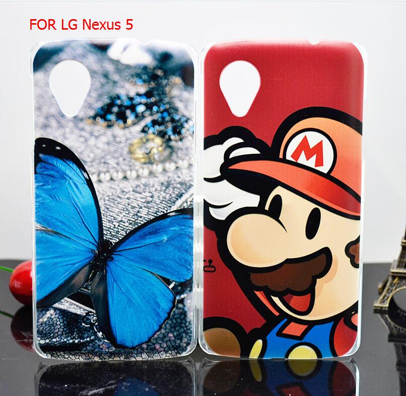 Гаджет  Free Shipping 2014 New High Quality PC Painted Cartoon UV Print Hard Cover Case For LG Nexus 5  Case None Телефоны и Телекоммуникации