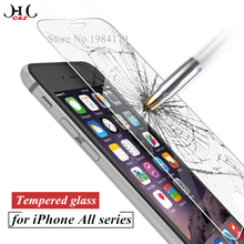 2.5D for iPhone 5S Tempered glass for iPhone 6 6S 7 Plus Screen protector glass film for iPhone 5 SE 5C 4S Explosion-proof film(China (Mainland))