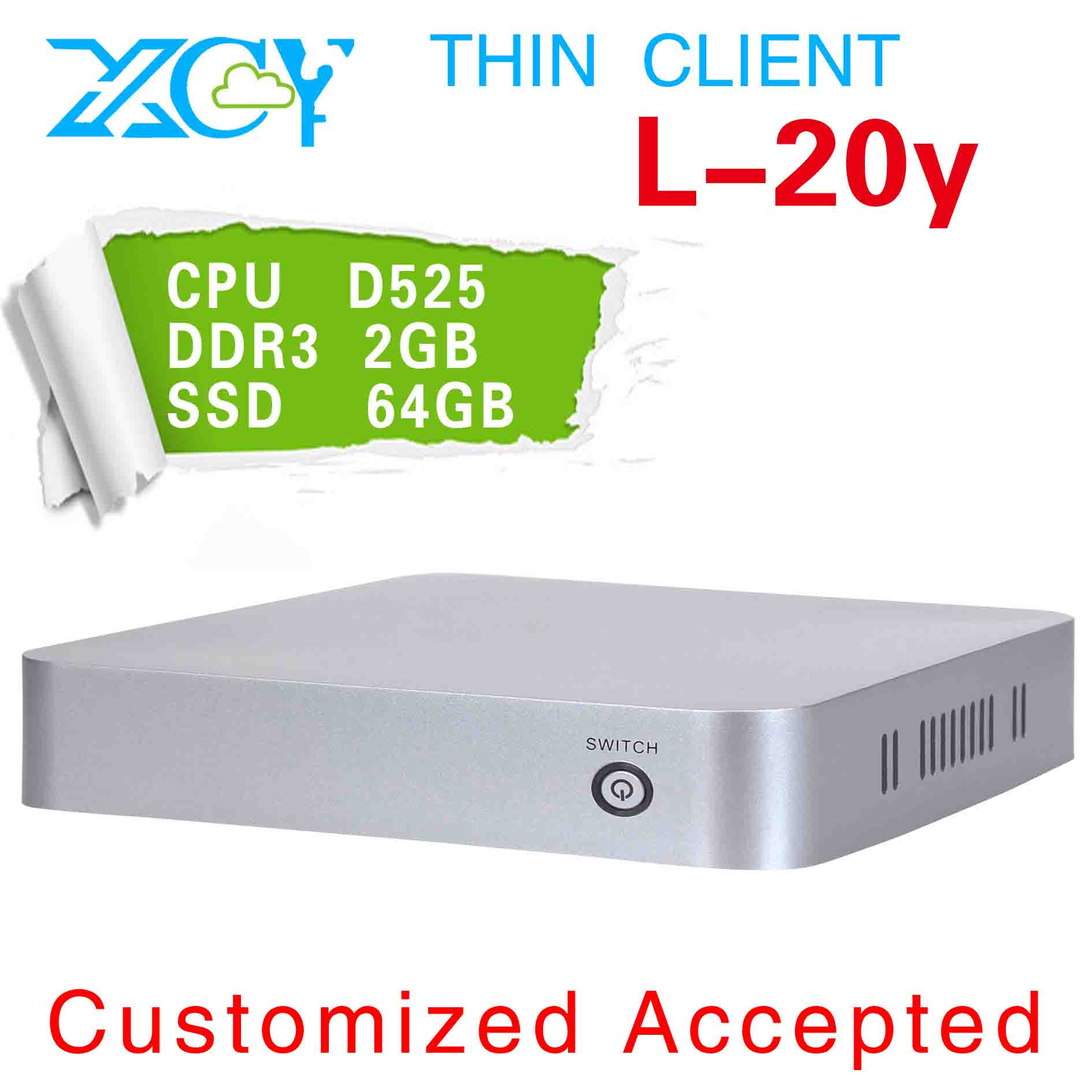 XCY L-20Y With high-powered CPU and Graphics Card MINI ITX PC, desktop pc, Ultra thin PC, 64G SSD(China (Mainland))