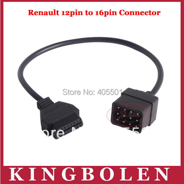 Factory Price For RENAULT 12 Pin 12Pin Male to OBD OBD2 OBDII DLC 16 Pin 16Pin Female Car Diagnostic Adapter Converter Cable(China (Mainland))