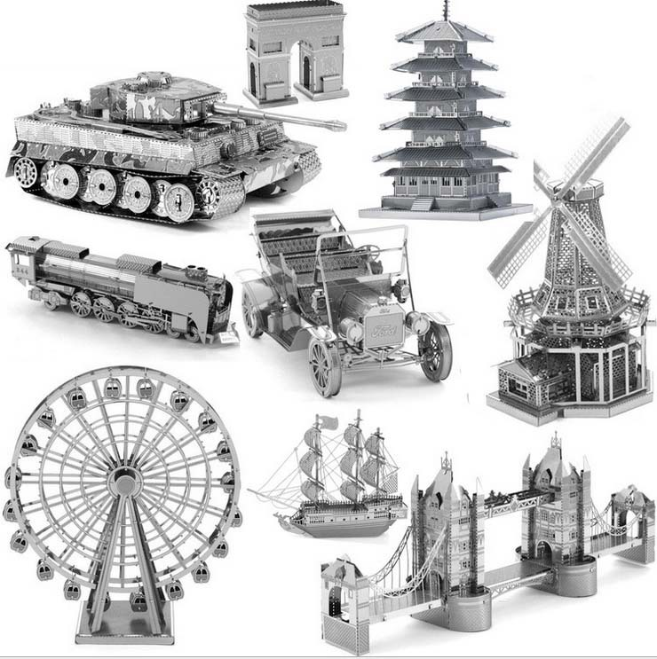 3D puzzle for adult 2015 New Russia Brazil building 3D Nano metal Puzzle DIY juguetes educativos brinquedos 3d jigsaw puzzle(China (Mainland))