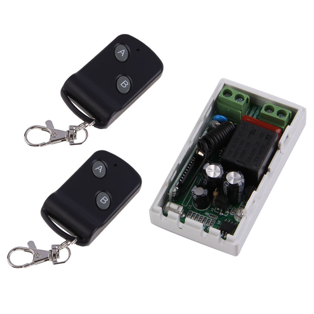 High Quality AC220V 1CH 1 Receiver 2 Remote Controllers RF Wireless Transceiver 315MHz NG4S