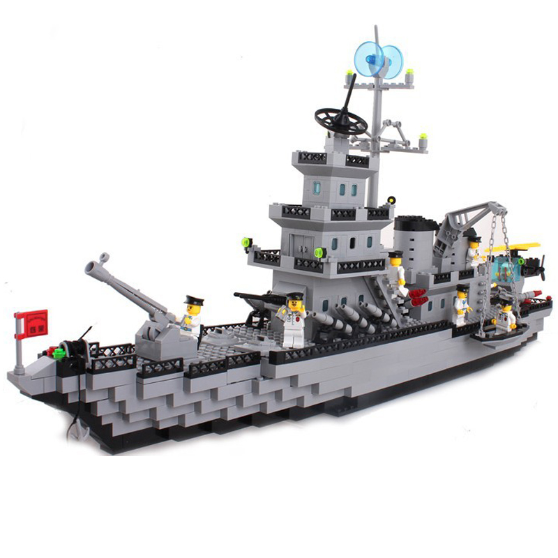 970 PCS Enlighten Battleship Series Battle cruisers Model Building Blocks Sets Minifigures Compatible With Legoe(China (Mainland))