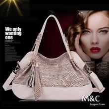 Hot Sale New Fashion Genuine Leather Bags Handbags Women Famous Brands Designer Handbags High Quality Snake Skin Handbag SD-068