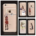 NBA Case for Iphone 7 7 plus Michael Jordan 23 LeBron James Harden Curry Kobe Bryan