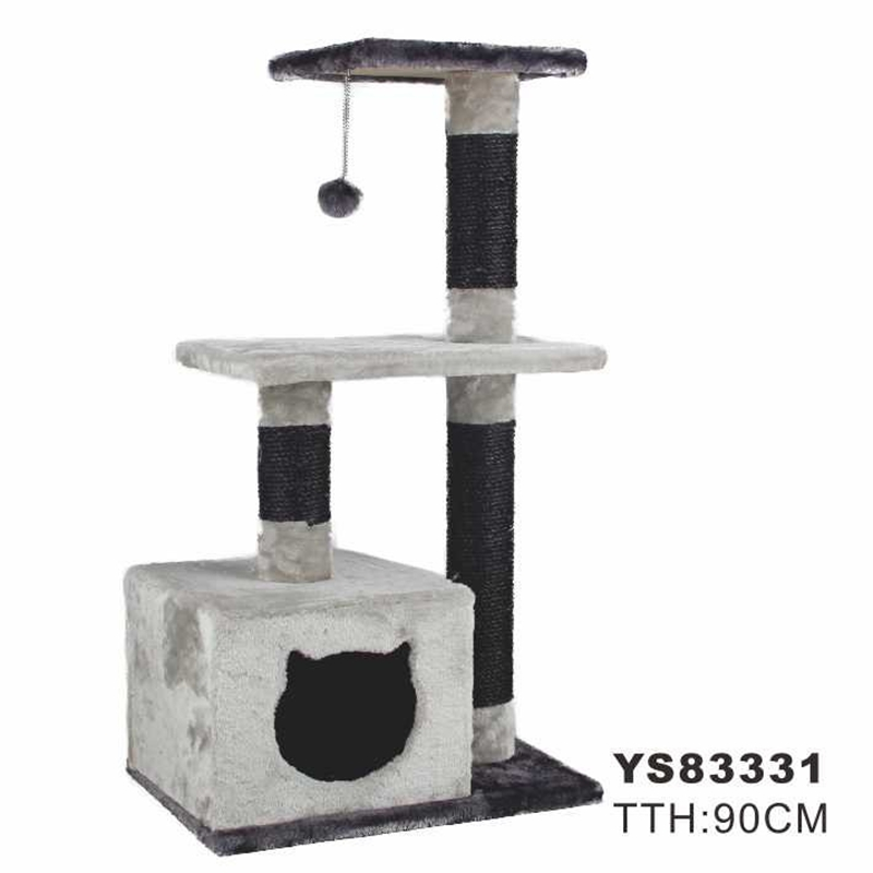 Domestic Delivery Cat Climbing Trestle Cat Scratcher Tree Jumping Furniture Ball Cat Playing Pet Product Wholesale High Quality(China (Mainland))