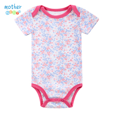 Baby Clothing! 2016 Soft Sleepwear Baby Girl Newborn Clothes Bodysuit Short Sleeve Infant product , Baby Bodysuits Print Girl