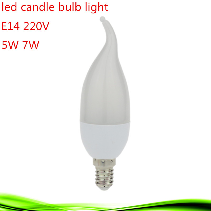 1X LED Bulb Candle Light E14 5W 7W AC220-240V SMD2835 Epistar Chip Long life-span LED Lamp More Stability Warm/Cool white(China (Mainland))