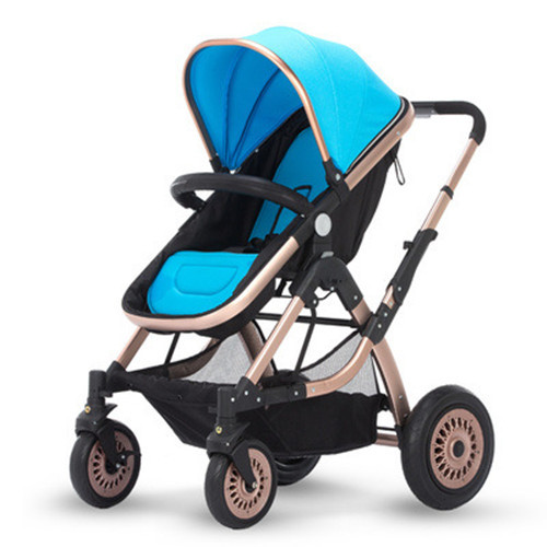 2015 Brand New Baby Stroller 4 Wheels High Landscape Luxurious Shockproof Infants Carriage Foldable Baby Pram for Summer Winter(China (Mainland))