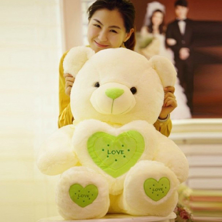 Plush toy bear holding heart love doll pillow birthday gift 60cm(China (Mainland))