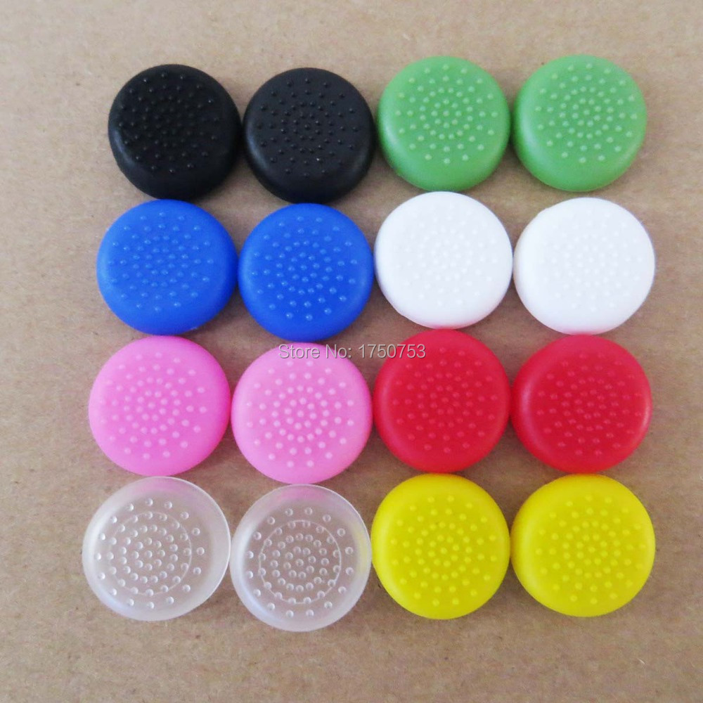 Plastic TPU Thumbsticks Thumb Stick Grips Cap Cover For PS4 PS3 Xbox One Xbox 360 Wii Controller Wireless(China (Mainland))
