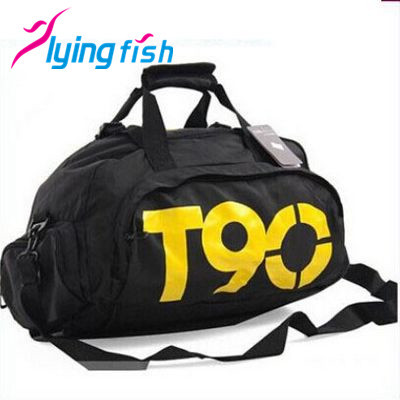Fashion T90 Brand Waterproof Nylon Handbags Multifunctional Outdoor Men/Women travel backpacks Polyester sports bags QF023(China (Mainland))