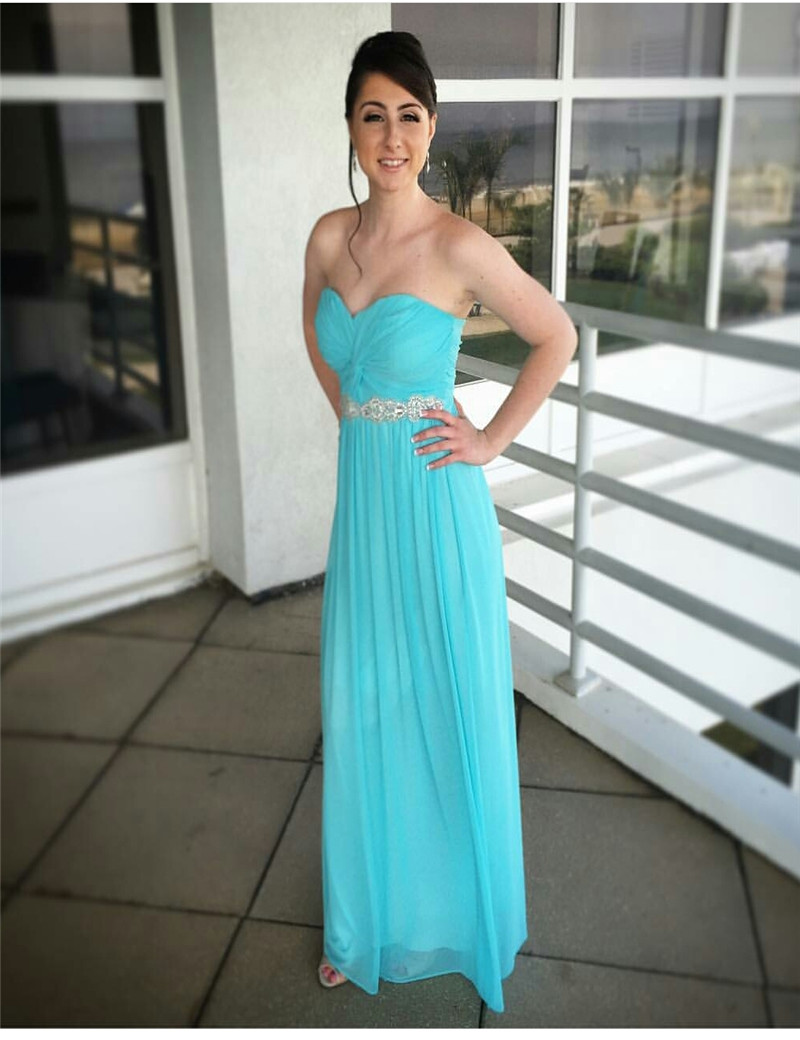 Unique Light Teal Bridesmaid Dresses Motif