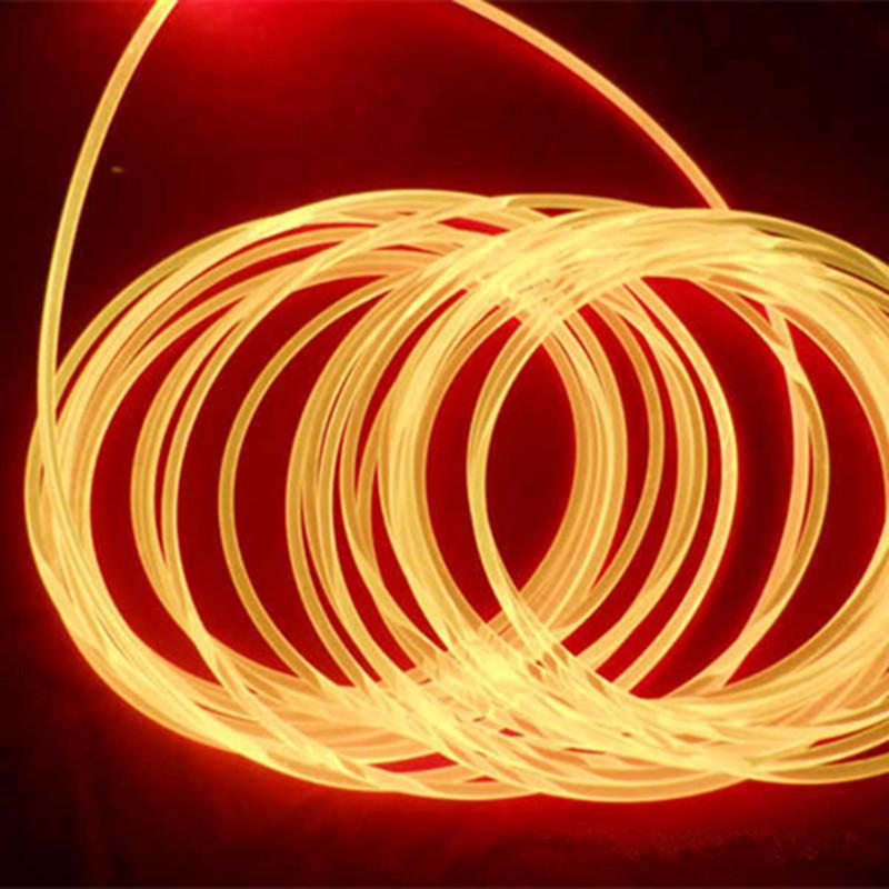 Free shipping +PMMA fiber optic cable, single core , 4.0mm side glow fiber+100m/roll(China (Mainland))