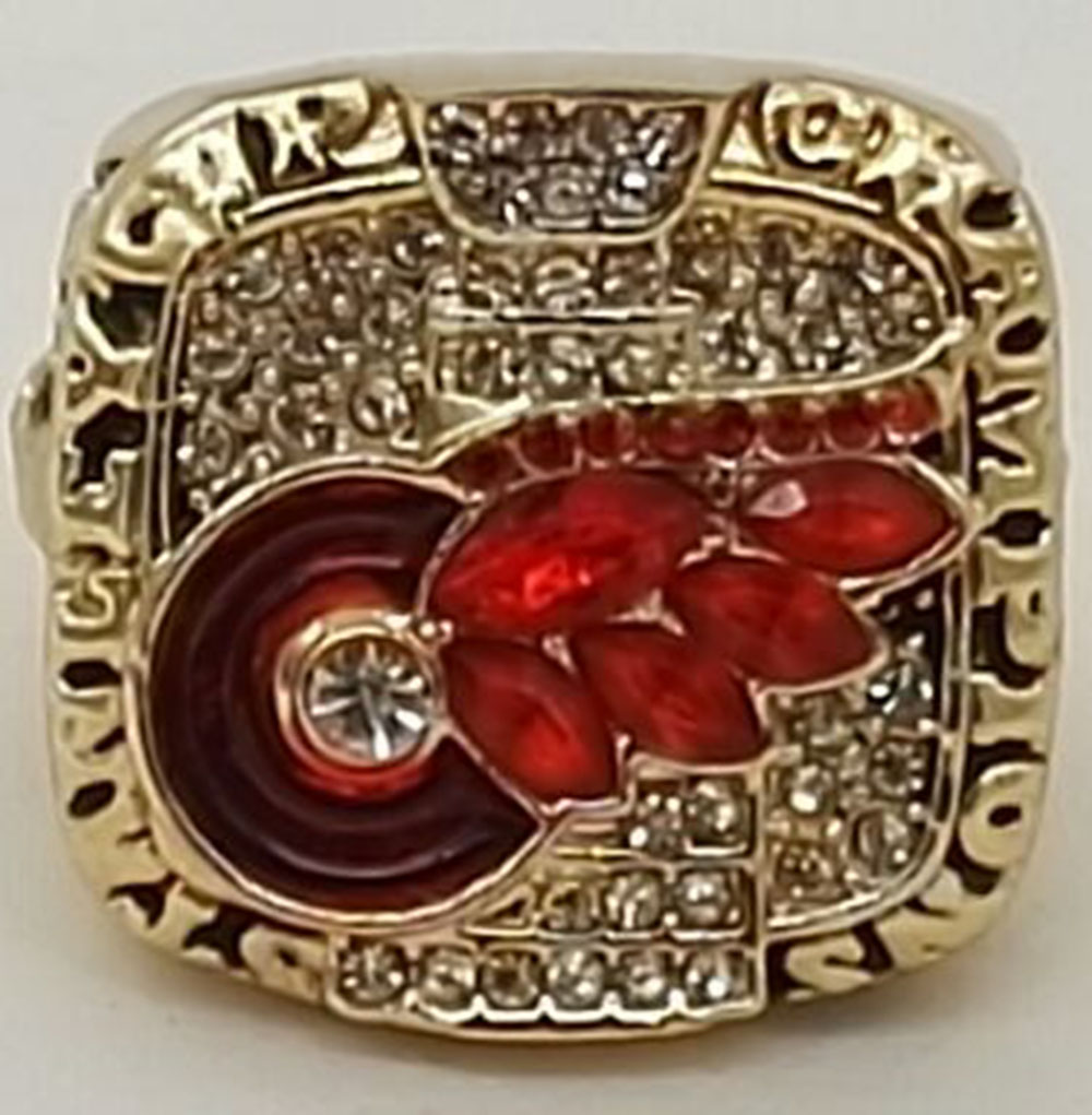 Factory direct sale 2002 Ice Hockey Detroit Red Wings Zinc Alloy gold plated Replica world Championship Rings(China (Mainland))