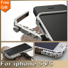 For iphone 5S case Man Super Arm Aluminum Metal Bumper for Apple iphone 5 case iphone SE cover Frame For iphone5S phone cases(China (Mainland))