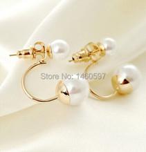 2014 Fashion Korean Jewelry Pearl Earrings Rose Gold Plated Earring For Women YBY-E8