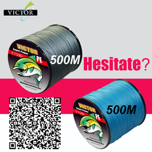 free Shipping Victor 2016 Big Discount 500m Moss Green 100% Pe Fiber Pe Braided Fishing Line Fluorocarbon Fishing Line 100-8(China (Mainland))